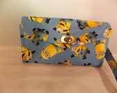Necessary Clutch Wallet-Minion Wallet-Smart Phone Wallet-Accordion Style Clutch Wallet-Multi-Purpose Wallet-One in a Minion