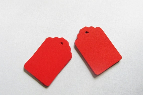 Red tags for labeling scrapbooking gifts thank you for Price tags for craft shows