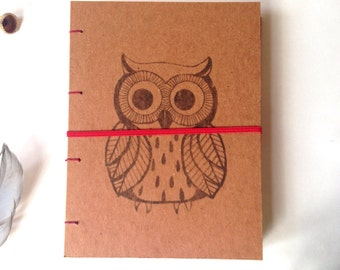 Nature Journal with owl