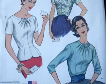 Simplicity 1278  1950 Vintage Copy Misses Blouses in sizes R5  14-22