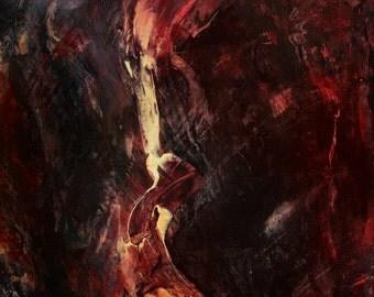 SALE - Original Art - ooak abstract painting - 'Pathogen'