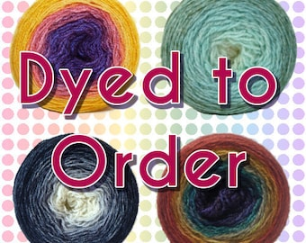 Gradient/Long Repeat Maki Yarn - Dyed to Order - Pounce 2ply BFL Fingering - Choose your colorway and yardage