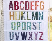 Paper Piecing Alphabet Pattern - 6 inch My First Alphabet #210 - Paper Piecing Pattern - PDF