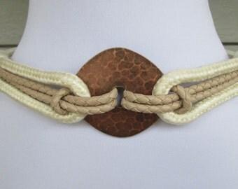 Copper Leather Shop Womens Statement Stretch Belt S/M