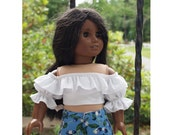 18 inch Dolls Clothes - American - Girl Doll Clothes -  Samba Top - Shorts