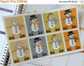 SALE Snowman Stickers Full Box Stickers Planner Stickers