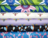 FAT QUARTER Bundle - Gregory's Garden, Jane Sassaman, Free Spirit, Designer Cotton Quilt Fabric, Quilting Fabric, Fat Qtr