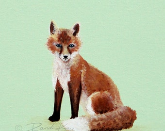 Fox Print- Baby art prints - Fox Nursery Art - Nursery wall art - Fox Nursery Decor - Woodland nursery - Woodland Animals -Kids Fox Art