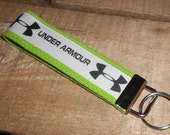 Under Armour Inspired on Lime Green Key Fob Wristlet