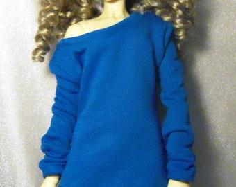 Blue baggy sweatshirt for SD, dollfie dream, 1/3 bjd DOLL