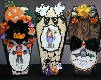 Magnolia Tilda Halloween Coffin Treat Boxes