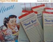 20PercentOff Antique 1950s Vintage Kitsch Diner Tickets unused Receipt/Invoice Pad Ephemera