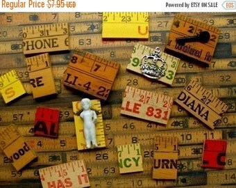 20PercentOff Vintage Salvage Wooden Yardsticks cut pcs for Jewelry and Assemblage
