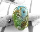 WHoo the owl, abstract glass owl bead