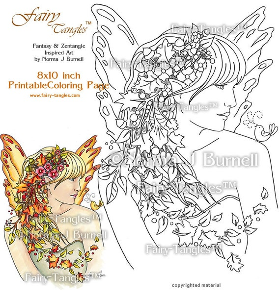 fall fairy coloring pages - photo#14