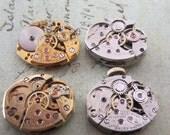 Steampunk watch parts - Vintage Antique Watch movements Steampunk - Scrapbooking W31