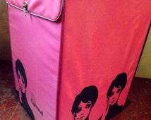 Mid Century Carousel Wig Case Hot Pink Twiggy Era