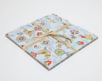 SUMMER SALE - 42 squares - 10 inch stacker - Dutch Treat - Betz White - Riley Blake Designs