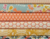 Set of 8, bonnie christine fabrics, Sweet As Honey in Spring fabrics, your choice of cut (fat quarter,half yard, or yard cut)