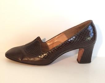 70's Secretary Heels Size 8