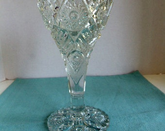 Vintage Cut Glass Chalice
