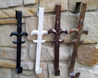 Wreath Hanger, Wreath Hardware, Wreath Hangers, Fleur De Lis Hanger, Hanger for Wreaths, Black Wreath Hanger, Black Fleur De Lis Hanger
