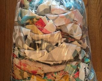 Fabric Scraps 10 lb pound bag Home Decor Premier Prints, Kaufmann, Waverly, Robert Allen and more