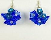 Bluebonnet Earrings Small, Fall Series, Handmade Glass Jewelry