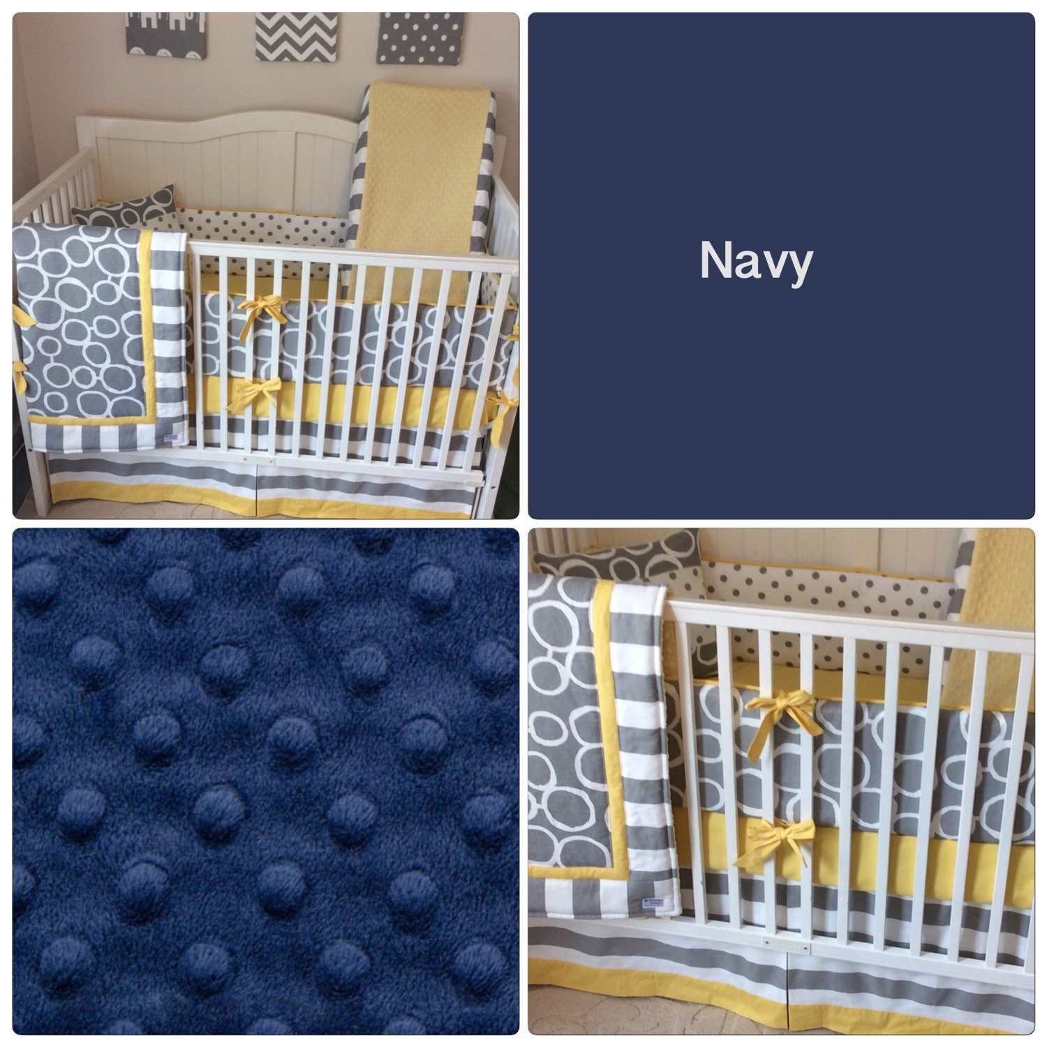 Crib bedding set gray white navy blue with by butterbeansboutique - Crib Bedding Set Gray White Navy Blue