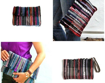 Wholesale Bags Bundle of 4 Plain Small Kilim Bags Clutch and Zippered Style. Wholesale Handbags