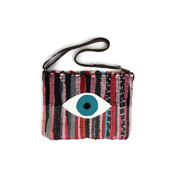 Ready to Ship Evil Eye Boho Bag. Turquoise Eye. Small Messenger Bag ...