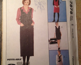 McCall's 7878 Size 14, 16, 18 Misses Jumper and Blouse Pattern UNCUT