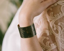 Literary Stage Play - Shakespeare Jewelry - Macbeth Quote Brass Cuff Bracelet - Actor Gifts