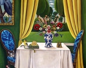 Fine Art Print  of Painting-Bird Watchers II- still life painting by catherine nolin - bird art