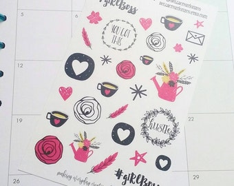 Glam Girl Boss Stickers - Planner Stickers