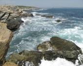 Waves at Beavertail Point - Jamestown, Rhode Island - Custom Photographic Print