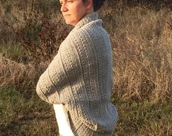 Crochet PATTERN Shrug Cardigan, Crochet PATTERN Women Girls, Crochet Shawl pattern, Sizes 2/4, 6/8, 10/12, Adult S, M, L, Customizable