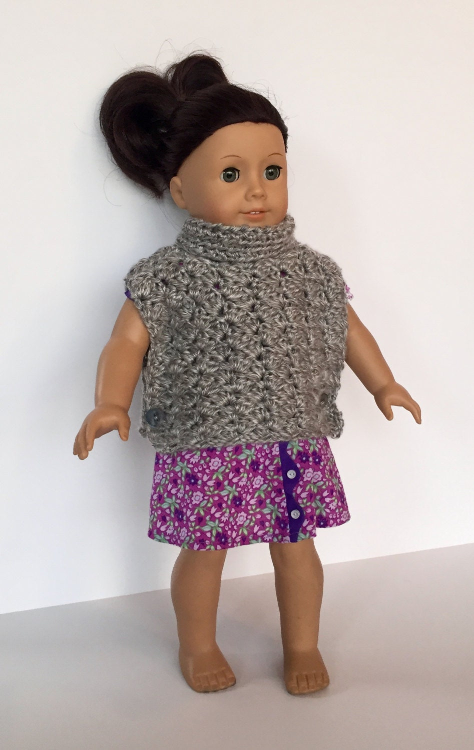 American Girl Doll Knitting Patterns Poncho - Sweater Vest