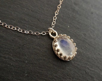 Silver Necklace Reach The Rainbow with Crown Bezel Sterling Silver