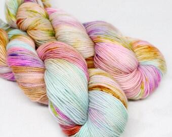 Hand Dyed Sock Yarn - SW Sock 80/20 - Superwash Merino Nylon - 400 yards - Float on By