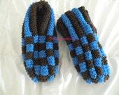 Phentex slippers hand knitted for men