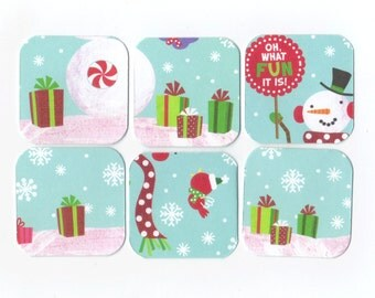 SALE Christmas Mini Note Cards (set of 6) CMN7 / Ready To Ship