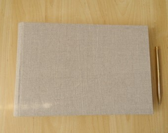 Linen Wedding Album, Guestbook, Natural Linen - you choose the cover lining paper.