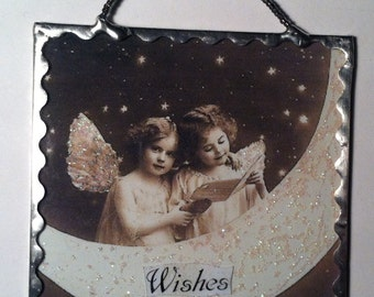Glass Fairy Wall Plaque