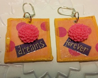 papier mache earrings