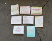 SALE - Thank You Letterpress Greeting Card Pack (Assorted) - 20 Cards And Envelopes