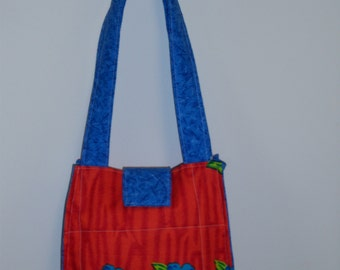 Big Blue Flower Purse