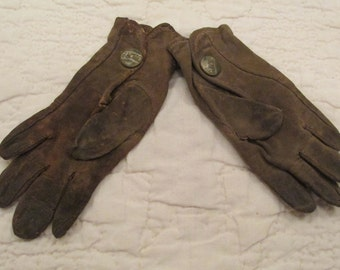 Vintage Children's gloves very small Bacmo Cotton not perfect