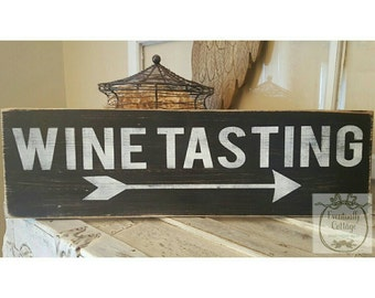 Handpainted Wine Tasting sign