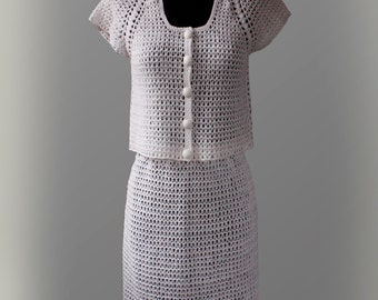 Crochet Skirt Suit